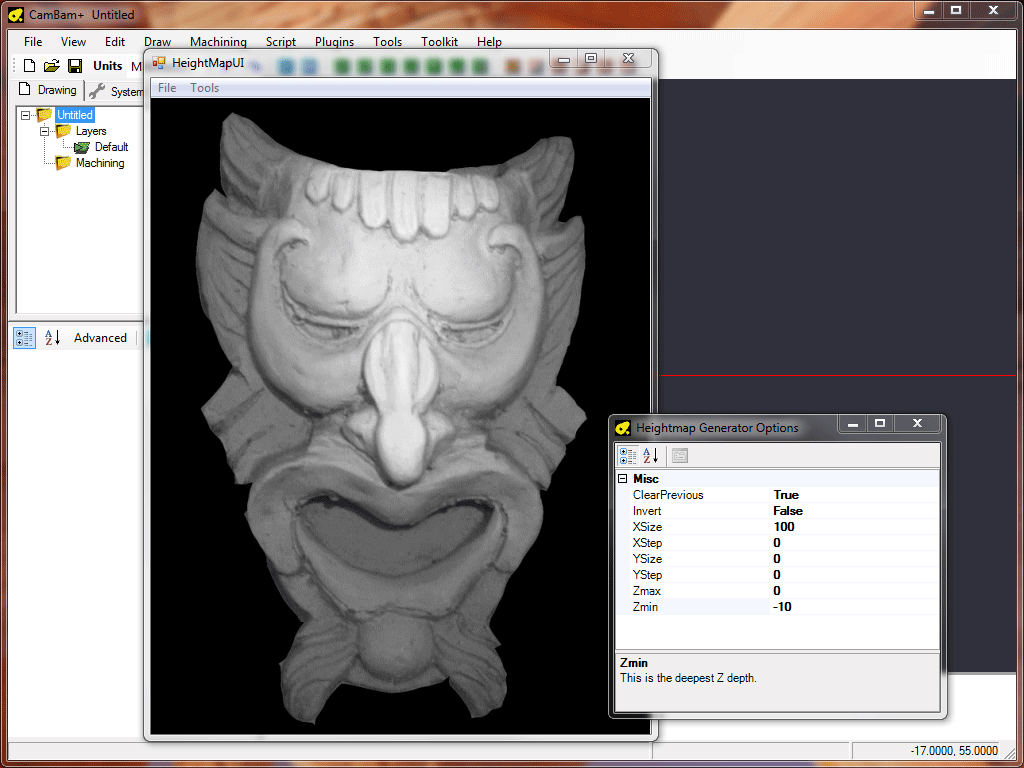 CamBam Documentation Bitmap Heightmaps - Grayscale height map us